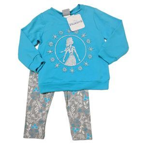 Disney Frozen Glitter 2P Sweatshirt Legging Set 2T
